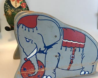 Antique Childs Elephant Step Stool