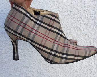 Vintage Check Ankle Boots