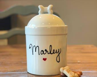 Large Dog Treat Jar, Personalized Dog Treat Jar with Name Gift, Custom Dog Treat Jar, Pet Gift, Personalized Dog Gift, Dog Treat Jars