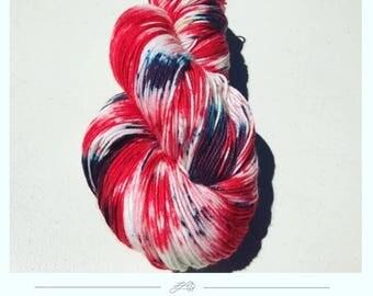 hand dyed wool-indie dyed yarn-merino wool-sock yarn-hand dyed Sock yarn- fingering weight-Variegated Yarn-Merino wool- Dyed by Hand- dyed