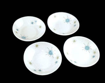 Vintage Franciscan Starburst Coupe  Bowl * Mid Century Dishes * Atomic Age Cereal Bowls Set of 4