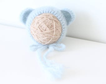Newborn bear – Baby props – Newborn boy – Photo props – Baby boy bear – Newborn hat – Newborn props – Baby boy props - Bear hat - Ears hat