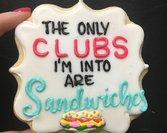 Club sandwich cookies