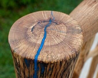 Oak Log Headboard, Handmade