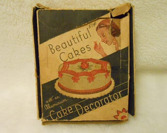 1950's Cake Decorating Set Complete with Original Box