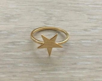 Star Ring, Gold Ring, Stack Ring, Bridesmaid Gift, Thin Ring