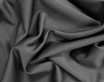 Black Mini Pique Poly Stretch Knit Fabric by the Yard and Swatch - Style 2011