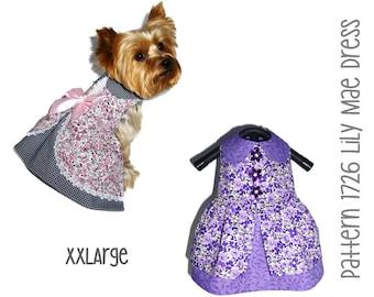 Lily Mae Dog Dress Pattern 1726 * XXLarge * Dog Clothes Sewing Pattern * Dog Harness Dress * Designer Dog Clothes * Dog Apparel