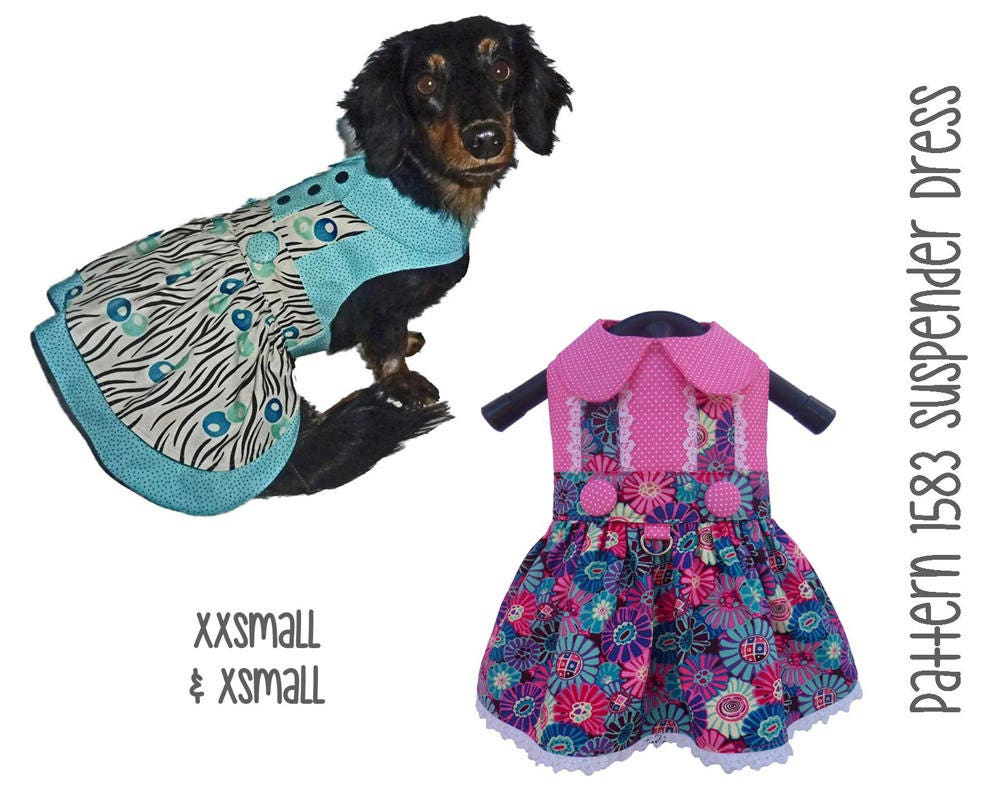 Suspender Dog Dress Pattern 1583 Xxsmall Amp Xsmall Dog