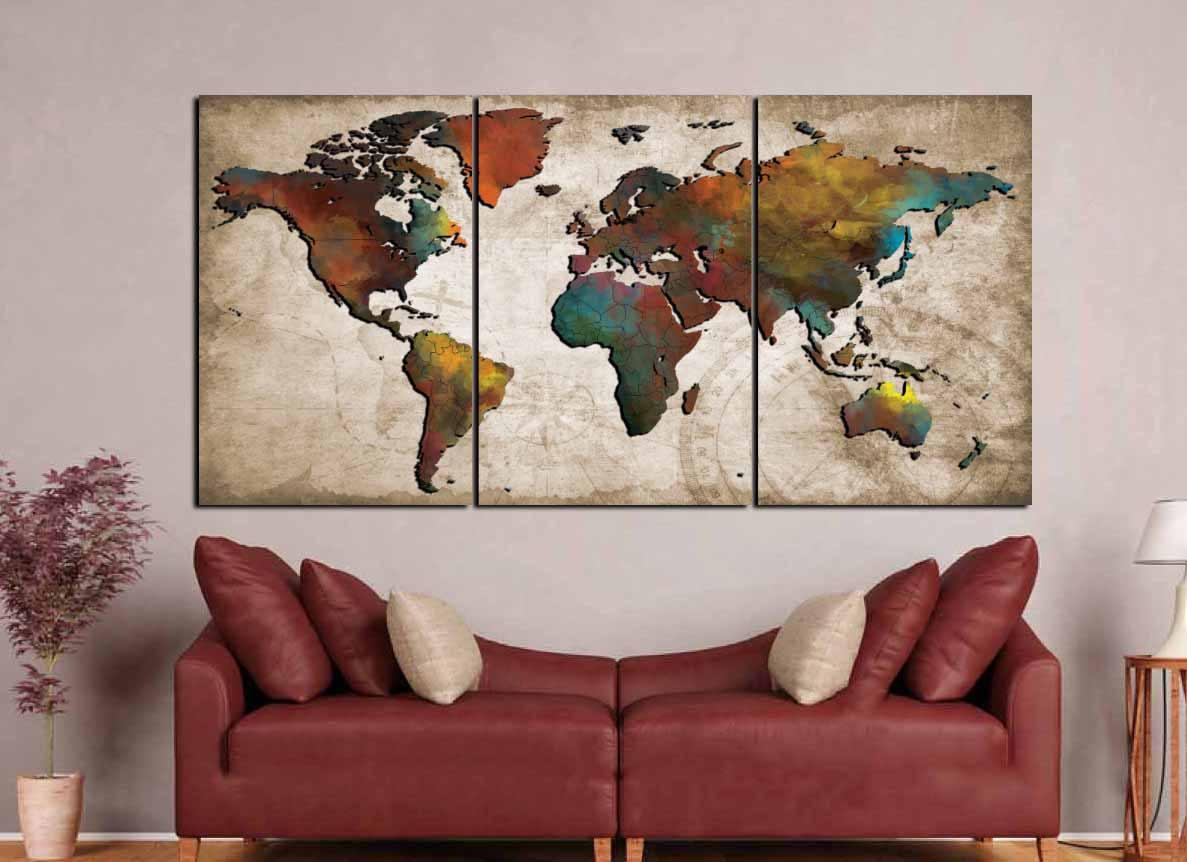 World map wall artabstract push pin mapcolorful world mapworld gallery photo gallery photo gallery photo gallery photo gumiabroncs Gallery
