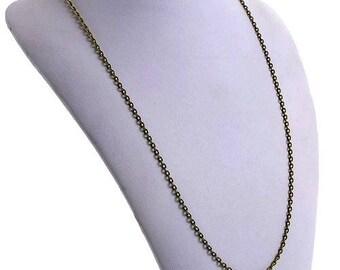 1 or 10 chains bronze Metal, cadmium, 76cm - long