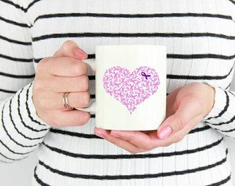 Cancer Awareness Mug - Cancer Ribbon