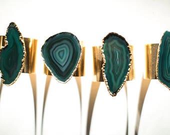 agate cuff bracelet, agate bracelet, green bracelet