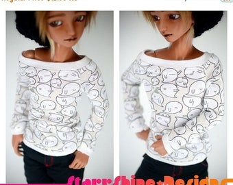 Thank You Sale 25% Off BJD MSD 1/4 Doll clothing - Wide-Neck Sweater - Little Boos - Limited