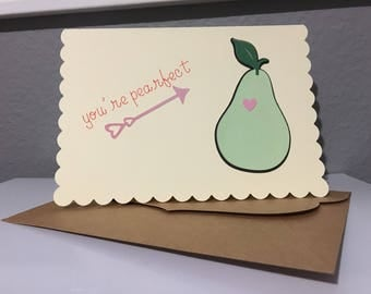 You're Pearfect - Blank card