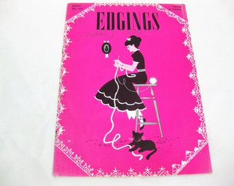 Edgings by The Spool Cotton Company, Crochet Instructions, Vintage Home Decor