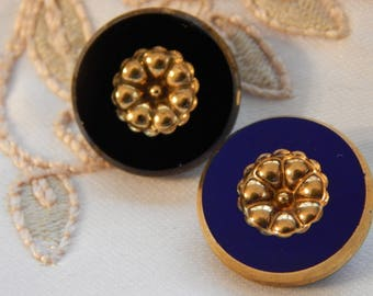 Gold Luster Center Vintage Buttons - 2