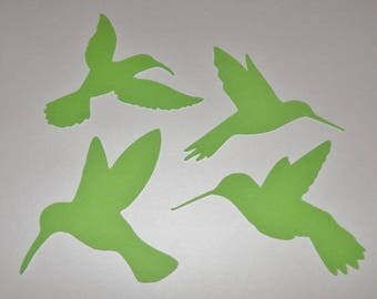 Humming Birds Die Cut Confetti Party Favor Scrapbooking 24 pieces 6 of each bird style you choose color - 2 inch size
