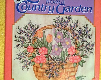 Cross Stitch from a Country Garden, McCall's Needlework and crafts 1988