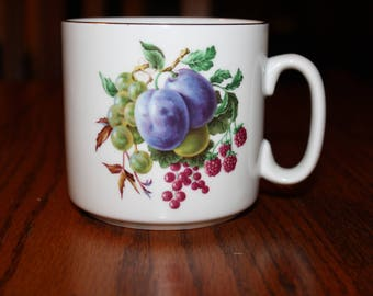 Naaman Mug with Fruit made in Israel 1970's