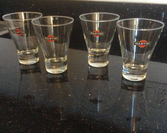 Set of 4 Drink Glasses by French Brand Martini