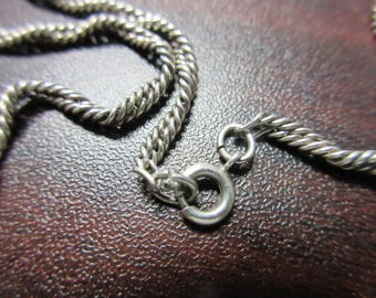Sterling Silver Twist Chain Necklace