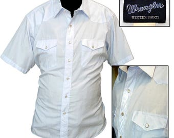 Retro Wrangler Western Shirt / Rockabilly Shirt / Cowboy Shirt / Hipster Shirt