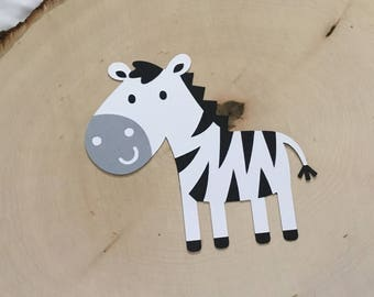 Scrapbook Embellishment, Boy Zebra Die Cuts - Set of 4