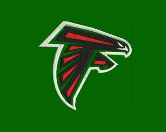 Atlanta Falcons Logo Embroidery Design - Instant Download Filled Stitches Design 344C