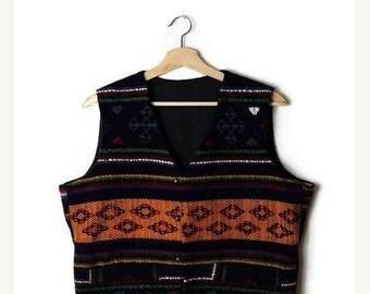 ON SALE Vintage Colorful Stripe/pattern Ethnic Wool vest*