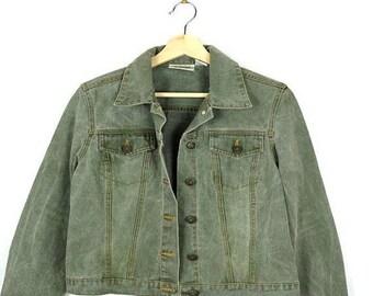 ON SALE Dusty Green Women's Denim Jacket  from 90's*