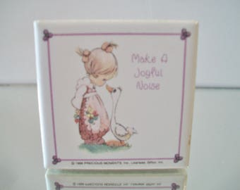 Vintage Precious Moments Refrigerator Magnet Make A Joyful Noise Giftco Inc. Kitchen Home Decor
