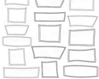 80% OFF SALE label frames clipart commercial use, vector graphics, digital clip art, digital images - CL540