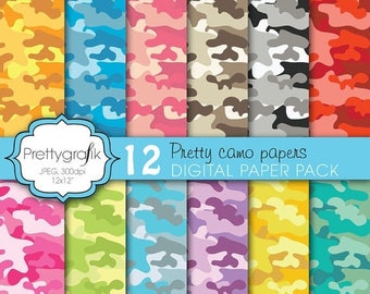 80% OFF SALE camouflage digital paper, commercial use, scrapbook papers, background  - PS614