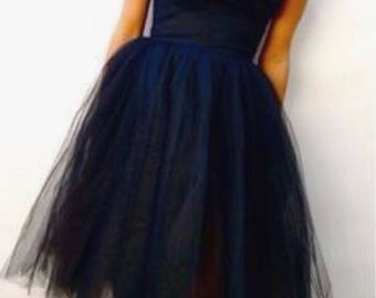 Tulle Womens Mid Length TuTu Skirt. Inspired by Audrey Hepburn's Breakfast At Tiffany's