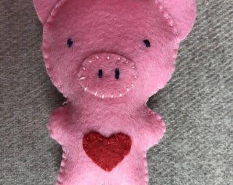 PINK PIG PIN