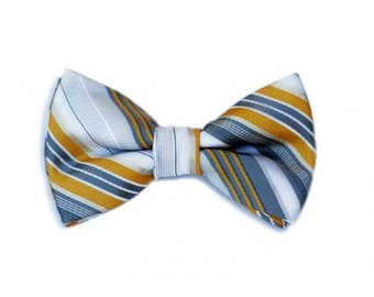 Yellow & Gray Baby/Kids' Bow Tie
