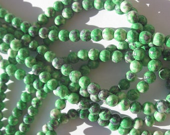 agate beads 10 colored 6 mm (7-9) different colors