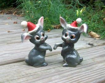 Vintage Rabbits Rabbit Salt and Pepper Shakers