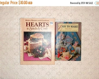 MAKERSALE Hearts to Stitch and Craft Easy Gifts to Make Book Set 2pc