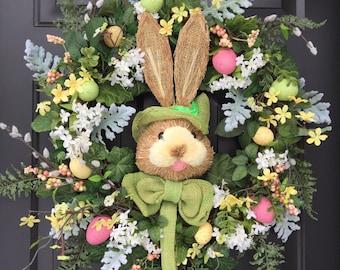 BUNNY LOVE -  Vintage Chic Easter Egg Spring Wreath Decoration