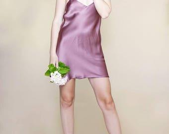 MINI SILK SLIP Dress | Beautiful Easy To Wear Silk Dress | Adjustable Straps | Pure Exquisite Silk Fabric Color Options | Versatile and Fun
