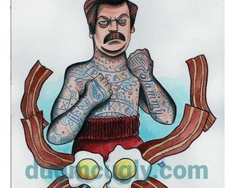 Punch Jamm in the Face - Ron Swanson - Parks and recreation