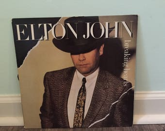 "Elton John ""Breaking Hearts"" vinyl record"