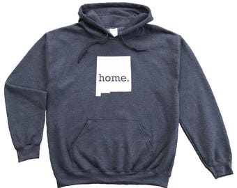 Homeland Tees New Mexico Home Pullover Hoodie Sweatshirt