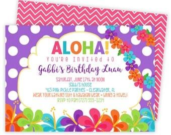 Luau Invitation, Hawaiian Invitations, Luau Birthday Invitation, Luau Party, Luau Party Invitations, Luau Invite, Luau Birthday, Luau   465