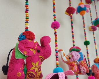 Elephant set B 100% Handmade Cute Doll Beads Curtain For Home Decoration (For Window)