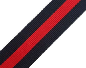 Striped Grosgrain Red Blue Trim Ribbon, Fashion Striped Trim