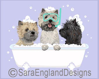 Spa Day - Cairn Terrier