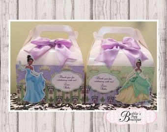 Princess Tiana, 10 Princess Tiana favor gable box, Tiana favor box